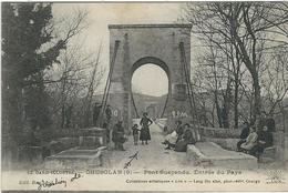 GARD :  Chusclan, Le Pont Suspendu, Entrée Du Pays - Frankreich