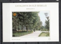 CATALUNYA EN ELS SEGELLS - HOJITA Nº 97 - PARC DE LA DEVESA (GIRONA) - Fogli Ricordo