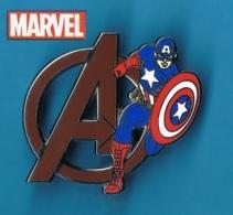 1 PIN'S  //  ** THE AVENGERS / Steven « Steve » ROGERS / CAPTAIN AMÉRICA / MARVEL ** . (© Marvel © Disney) - Cinéma