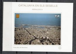 CATALUNYA EN ELS SEGELLS - HOJITA Nº 96 - VISTA AEREA DE BARCELONA - Fogli Ricordo
