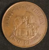 JERSEY - 2 PENCE 1989 - Elizabeth II - 2eme Effigie, 2eme Type - KM 55 - TWO PENCE - Jersey