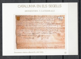 CATALUNYA EN ELS SEGELLS - HOJITA Nº 93 - DOCUMENT RELATIU A BORREL II (947-992) - Fogli Ricordo