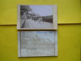 Mont Saint Michel ,2 Photos Train Sur Carton - Treni