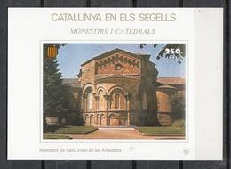 CATALUNYA EN ELS SEGELLS - HOJITA Nº 92 - MONESTIR DE SANT JOAN DE LES ABADESES - Fogli Ricordo