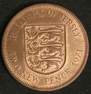 JERSEY - 2 PENCE 1971 - Elizabeth II - 2eme Effigie - KM 31 - TWO NEW PENCE - Jersey