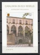 CATALUNYA EN ELS SEGELLS - HOJITA Nº 91 - LA SEU DE VIC - Fogli Ricordo