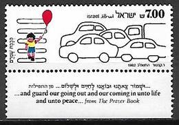 ISRAEL     -   1982.   Sécurité Routière.  Passage Piétons Avec Enfant  /  Voitures. - Israel