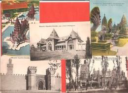 Joli Lot De 5 Cartes Postales Anciennes De MARSEILLE Exposition Coloniale 1922 Madagascar, Maroc, Indochine, AOF - Kolonialausstellungen 1906 - 1922