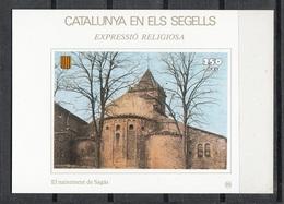 CATALUNYA EN ELS SEGELLS - HOJITA Nº 88 - NAIXEMENT DE SAGÀS - Fogli Ricordo