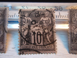 Timbre Sage 10c (type 2) Noir Sur Lilas Yvert & Tellier – Arthur Maury N°89 - NORD - - 1876-1898 Sage (Type II)