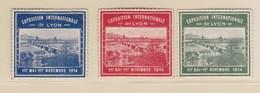 Exposition Internationale. Lyon 1914 - Commemorative Labels