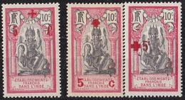 ⭐ Inde - YT N° 46 à 48 ** - Neuf Sans Charnière - 1915 / 1916 ⭐ - Unused Stamps