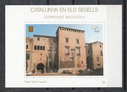 CATALUNYA EN ELS SEGELLS - HOJITA Nº 86 - TAPIS DE LA CREACIÓ - Fogli Ricordo