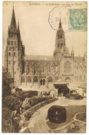55 Bayeux - La Cathédrale Vue Prise De L'Évêché - Circulé -  1906 ? - Corr.(s) : Rougeat - Phot./Ed. : ND Phot - Bayeux