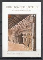 CATALUNYA EN ELS SEGELLS - HOJITA Nº 85 - MINIATURA DE LA BIBLIA DE GIRONA - Fogli Ricordo