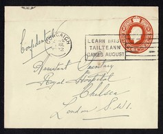 IRELAND TAILTEANN GAMES CORK GB STATIONERY 1922 KING GEORGE FIFTH - 1902-1951 (Kings)