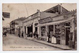 - CPA SOULAC-SUR-MER (33) - Rue De La Plage 1918 (LIBRAIRIE-PAPETERIE) - Edition BR - - Soulac-sur-Mer