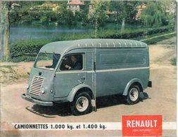 < Automobile Auto Voiture Car >> Publicité Folder Brochure 24p. Renault Camionnettes 1000 & 1400kg France 5809 - Old Paper