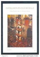 CATALUNYA EN ELS SEGELLS - HOJITA Nº 81 - CASTELLERS - Fogli Ricordo