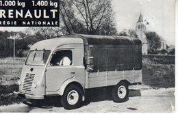< Automobile Auto Voiture Car >> Publicité Folder Dépliant 13x20cm. Renault Camionnettes 1000 & 1400kg, France - Old Paper
