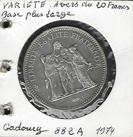 FRANCE ESSAI 50 FRANCS HERCULE VARIÉTÉ 882A GADOURY - Errors & Oddities