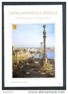 CATALUNYA EN ELS SEGELLS - HOJITA Nº 78 - MONUMENT A COLÓN (BARCELONA) - Fogli Ricordo