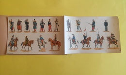 DÉCALCOMANIES LES UNIFORMES MILITAIRES DE 1815 A NOS JOURS DESSINS DE ROUSSELOT édition 300 Exemplaires Numérotés - Documents