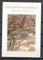 CATALUNYA EN ELS SEGELLS - HOJITA Nº 77 - BARCELONA - PLAÇA ESPANYA - Fogli Ricordo