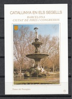 CATALUNYA EN ELS SEGELLS - HOJITA Nº 75 - BARCELONA - LA DAMA DEL PARAIGÜES - Fogli Ricordo