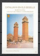 CATALUNYA EN ELS SEGELLS - HOJITA Nº 74 - EXPOSICIONS DE BARCELONA - Fogli Ricordo