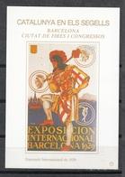 CATALUNYA EN ELS SEGELLS - HOJITA Nº 73 - EXPOSICIÓ INTERNACIONAL DE 1929 - Fogli Ricordo