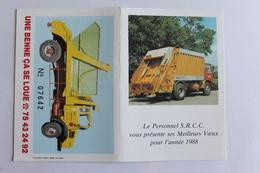 Petit Calendrier 1988 Offert Par S R C C - Calendriers