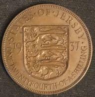 JERSEY - 1/24 SHILLING 1937 - George VI - KM 17 - ONE·TWENTYFOURTH·OF·A·SHILLING - Jersey