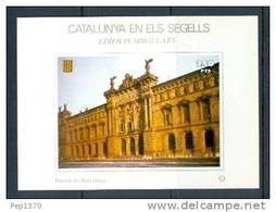 CATALUNYA EN ELS SEGELLS - HOJITA Nº 70 - DUANA DE BARCELONA - Fogli Ricordo