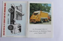 Petit Calendrier 1987 Offert Par  S R C C - Calendriers