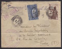 Congo Brazzaville 1949 Direction De La Sureté - Gouvernement - Afrique équatoriale Française - Par Avion - Paris Dunlop - Congo - Brazzaville