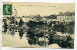 36 ST SAINT GAULTIER Faubourg  Lignac Maisons Du Bourg  1912 Timb    /D06-2017 - France