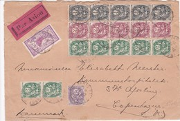 Env Par Avion T.P  Ob Tad Paris 14 10 30 + Paris Gare Du Nord Avion 14 10 30, Env Pour Copenhague - Postmark Collection (Covers)