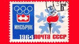 RUSSIA - Usato - 1964 - Giochi Olimpici Invernali 1964, Innsbruck - Emblema E Torcia Olimpici - 6 - 1923-1991 USSR