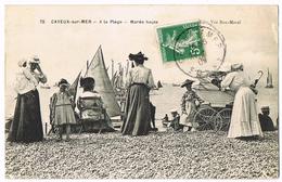 72 Cayeux-sur-Mer - A La Plage - Marée Haute - Belle Animation - Bateaux - Poussette - Ed Vve Bon-Morel - Circulé 1909 - Cayeux Sur Mer