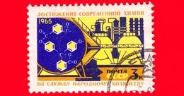 RUSSIA - Usato - 1965 - Materiale E Base Tecnica Del Comunismo - Opere Chimiche E Formula - 3 - 1923-1991 USSR