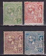 Monaco 1901 Prince Albert Serie De 4 Valeurs Michel 22 / 25 Neuf Avec Charniere - Monaco