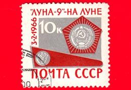 """RUSSIA - Usato - 1966 - Volo Spaziale Di """"Luna-9"""" - Gagliardetto Consegnato Alla Luna - 10 K - 1923-1991 USSR"""