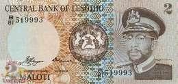 LESOTHO 2 MALOTI 1981 PICK 4a UNC - Lesotho