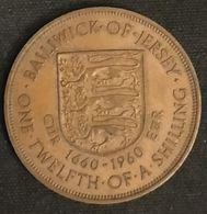 JERSEY - 1/12 SHILLING 1960 - CIIR 1660-1960 EIIR - Elizabeth II - KM 23 - ONE·TWELFTH·OF·A·SHILLING - Jersey