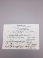 PARIS L SCARPELLINI MAGASIN D'OUVRAGES SCULPTES DE FLORENCE 1845 - France