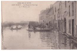 CPA - 78 - PORT MARLY - Inondations De Paris - Port Marly Crue De La Seine Février 1910 - Les Barques De Sauvetage - Otros Municipios