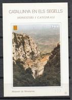 CATALUNYA EN ELS SEGELLS - HOJITA Nº 53 - MONESTIR DE MONTSERRAT - Fogli Ricordo