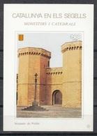 CATALUNYA EN ELS SEGELLS - HOJITA Nº 52 - MONESTIR DE POBLET - Fogli Ricordo