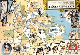 Carte Géographique Du Département - Nantes, St-Nazaire, Pornic, Clisson, Bourgneuf, Paimboeuf, La Baule, Ancenis,etc.... - France